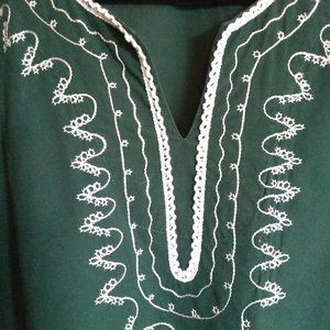 Embroidered Green Tunic